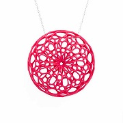 CELLULAR PENDANT (neon pink)